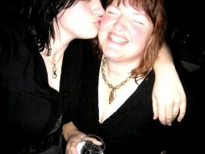 I think we may have been a little tipsy, and I was also going through my 'black hair, black everything' phase.